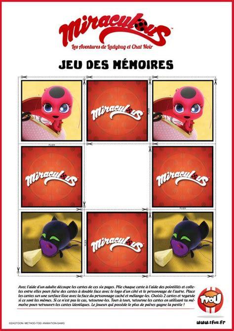 jeu des memoires tikki  plagg miraculous tfou