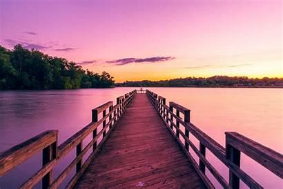 Dock Wallpapers Sunset Pier Wooden