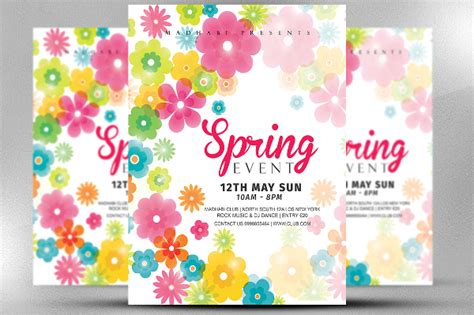 Spring Flyer Template Costumepartyrun