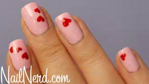 Cute heart designs nails nail