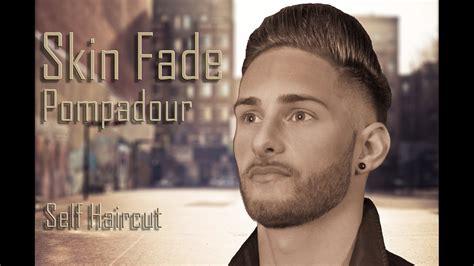 haircut  skin fade pompadour step  step tutorial youtube