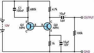 how to build simple white noise generator circuit diagram With an electrical circuit also requires a power source battery generator