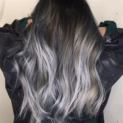 balayage braun grau braune haare grau f 228 rben ombre effekt dunkelgraue haare
