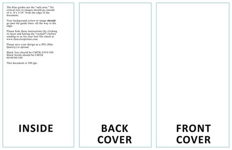 table tent template indesign  printable trifold