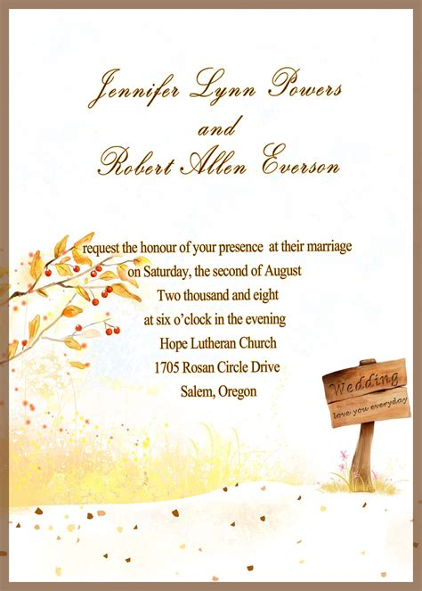 invitation card country side style gold rustic fall cheap wedding invitations ewi045 as low as 0 94