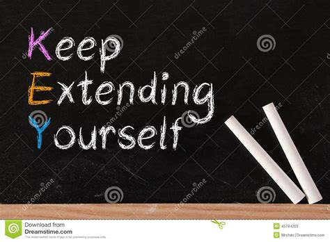 Keep Extending Yourself Stock Image Image Of Extending