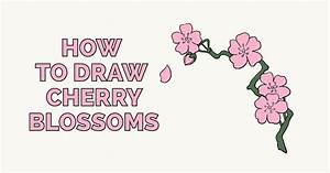 How to Draw Cherry Blossoms - Really Easy Drawing Tutorial