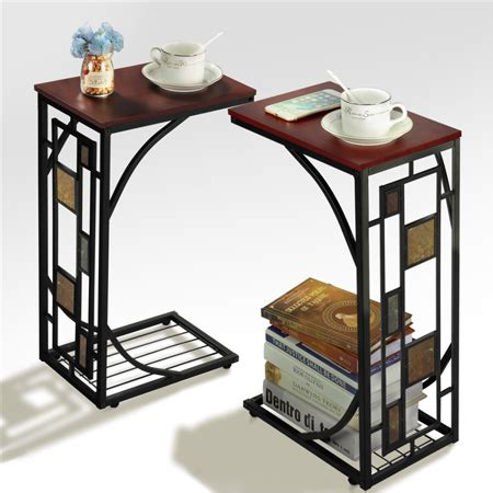 Living Room Side Stand by Yaheetech 2 X Living Room Sofa Side End Snack Table