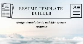 Resume Builder Freeware by 5 Best Free Resume Template Builder Software For Windows