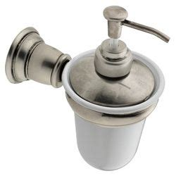 ideas for small bathroom kingsley antique nickel wall mounted soap dispenser