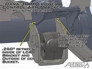 Dana 30 U2122 Hd Lower Control Arm Brackets  Pair