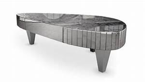 Table Basse Miroir : table basse originale avec placage miroir gabriel ~ Melissatoandfro.com Idées de Décoration