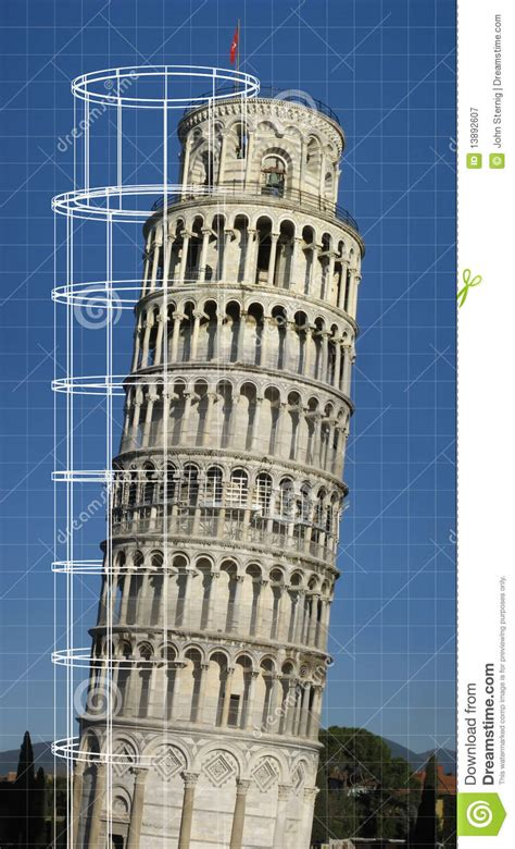 leaning tower  pisa royalty  stock photography