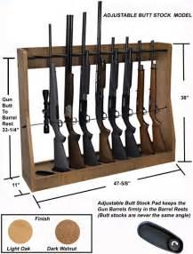 Adjustable Vertical Gun Rack (Floor Stand or Wall Mount)