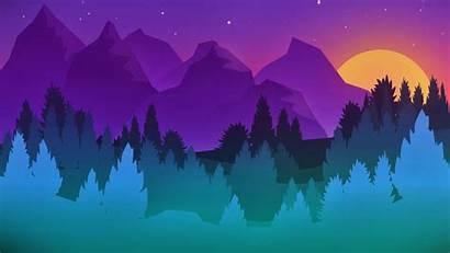 Simple Colorful Landscape Paint Background Resolution 4k