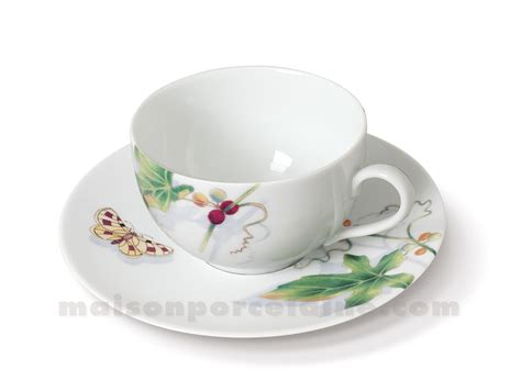 tasse the soucoupe limoges envie 24cl maison de la porcelaine