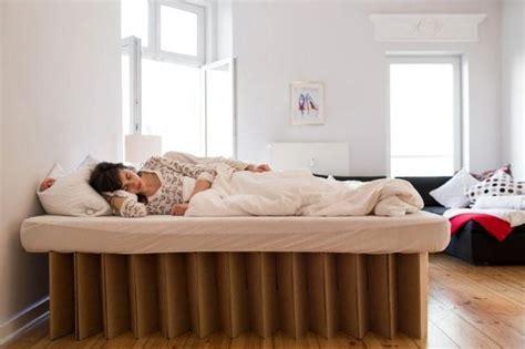cardboard beds offering simple  light furniture design