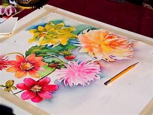Aquarell Malen Blumen : aquarell der blumen laufend malen redaktionelles ~ Articles-book.com Haus und Dekorationen