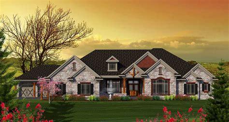 level craftsman home plan ah architectural