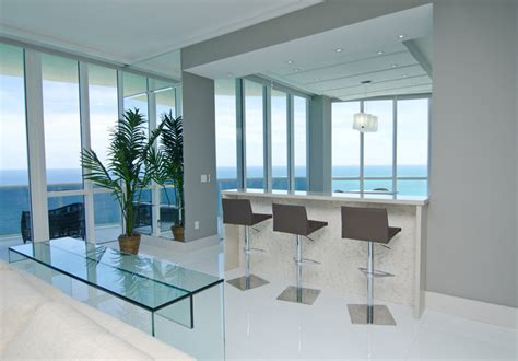 Opalina Krystal Glass  Modern  Living Room  Miami By