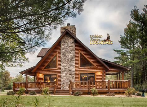 log cabin home side exterior