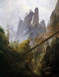 Caspar David Friedrich Romantik : paysage rocheux dans la elbsandsteingebirge 1822 brouillons du jour ~ Frokenaadalensverden.com Haus und Dekorationen