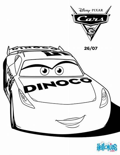 Coloring Cars Cruz Ramirez Dinoco Disney Colorear