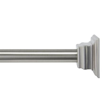 kenney shower rod brushed nickel rings n rollers
