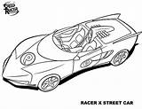 Racer sketch template