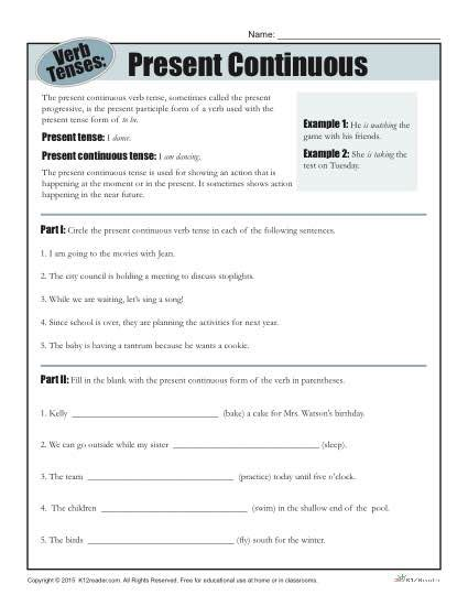 verb worksheets 4th grade abitlikethis