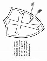 Shield Coloring God Armor Pages Bible Activities Children Salvation Helmet Christian Faith Crafts Printable Template Lesson Ministry Sunday Activity Sword sketch template