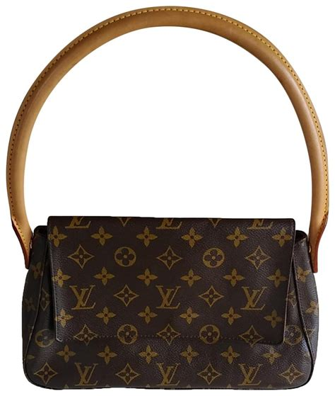 louis vuitton looping mini monogram brown coated canvas