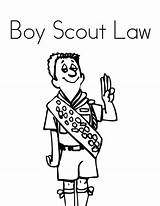 Obey Law Boy Coloring Scouts Pages Print Tocolor Utilising Button sketch template