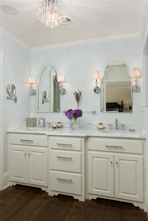 light blue traditional master bathroom  double vanity