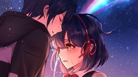 Your Name Taki And Mitsuha Crying Wallpaper #38784