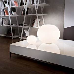 opal glass table lamp with dimmer glo ball basic zero by With zero g table lamp