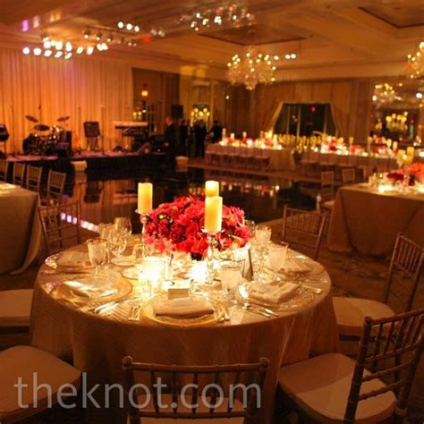 Red and Gold Reception Decor
