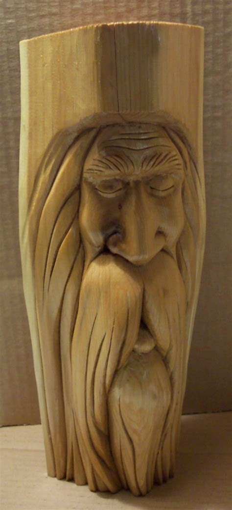 diy wood spirit carving wooden  wood craft store glossyecn