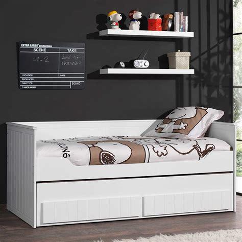 canapé lit pas cher lit banquette laque blanc avec tiroirs robinson zd1 l e