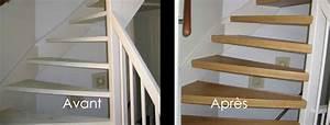Renover Un Escalier En Bois : r nover son escalier avec du ch ne r novation d 39 escalier ~ Premium-room.com Idées de Décoration