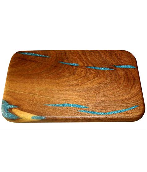 turquoise inlay cutting board large rustic artistry