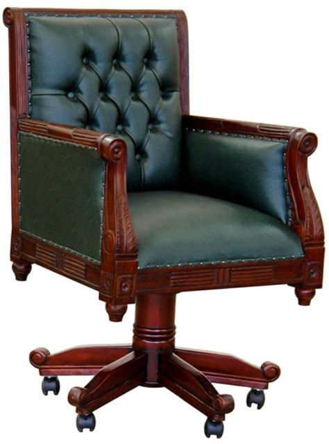 le de bureau style anglais fauteuil de bureau anglais chesterfield vert meubles de