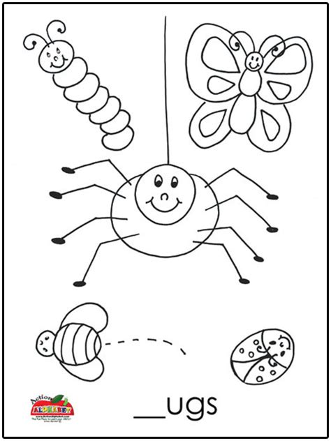 letter b activities preschool lesson plans 391 | B Bugs Coloring Page copy1