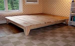 Diy California King Platform Bed Frame Picture - Decofurnish