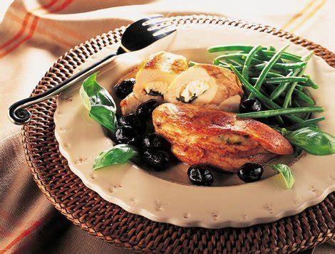 cuisiner du coq escalopes de poulet au chèvre et au basilic recette