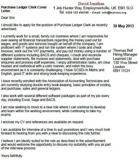 finance clerk cover letter sles accounting accounting advertisement