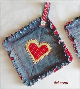 Nähen Aus Alten Jeans : dekoretti s welt topflappen aus alten jeans n hen denim pinterest jeans n hen alte ~ Frokenaadalensverden.com Haus und Dekorationen
