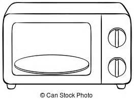 Microwave clipart black and white » Clipart Station