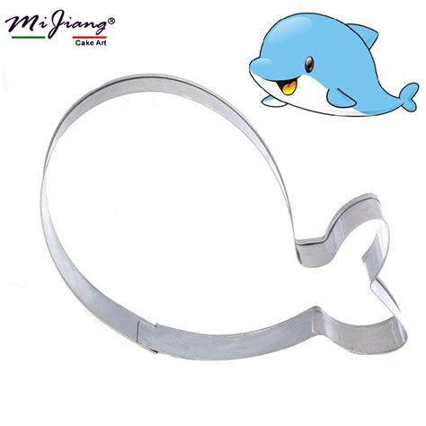 mijiang cute dolphin cookie cutter diy fondant cake mold