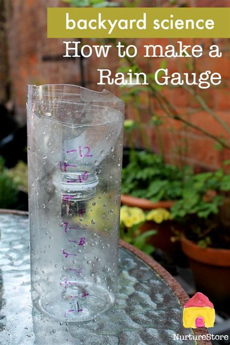 rain gauge backyard science homemade